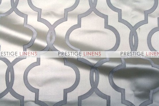 Gatsby Jacquard Table Linen - Silver