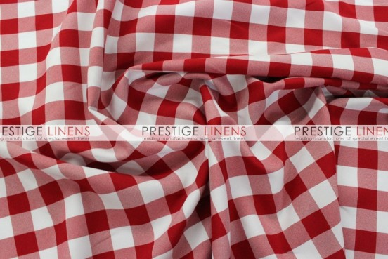 Gingham Buffalo Check Table Linen - Red