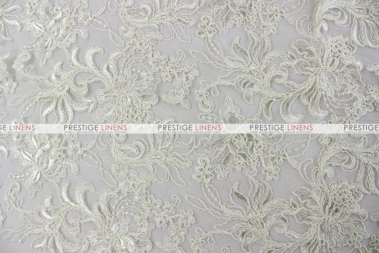 Giselle Net Embroidery Table Linen - Off White