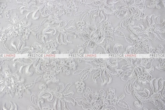 Giselle Net Embroidery Table Linen - White