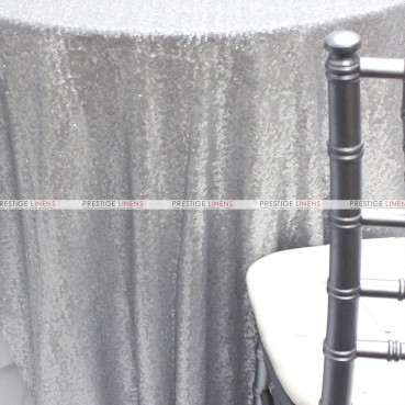 Glitz Table Linen - Silver (Dull)