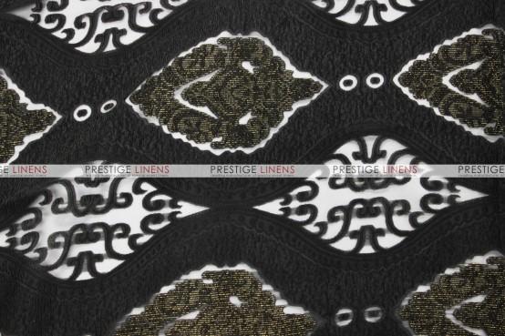 Imperial Damask Table Linen - Black