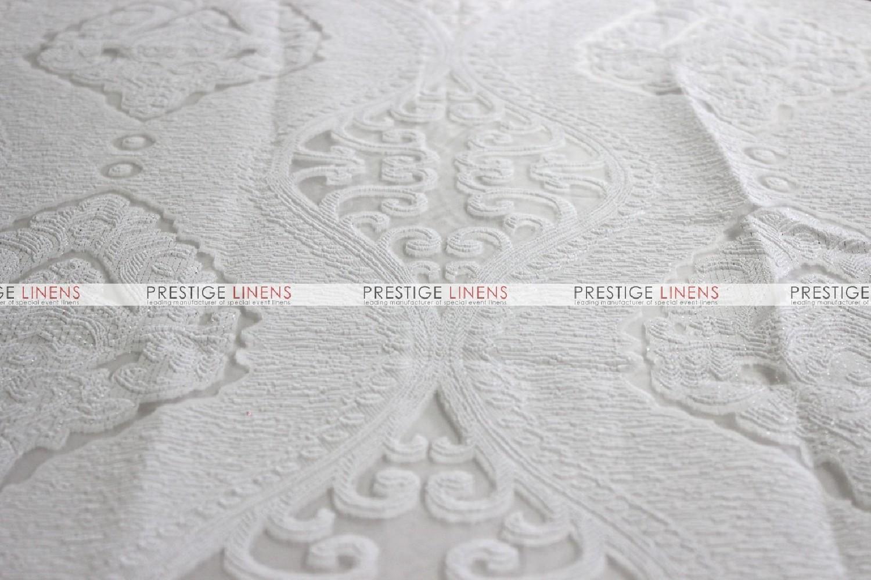 Prestige Linens & Imperial Damask Table Linen - White