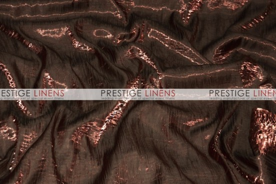Iridescent Crush Table Linen - Brown