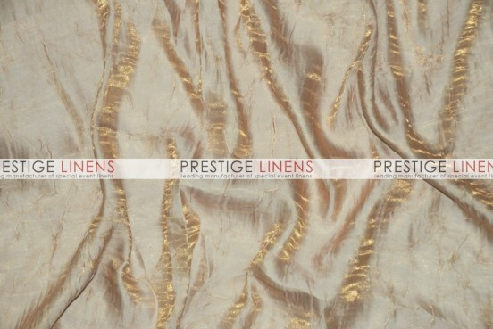 Iridescent Crush Table Linen - Champagne
