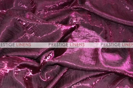 Iridescent Crush Table Linen - Fuchsia/Black