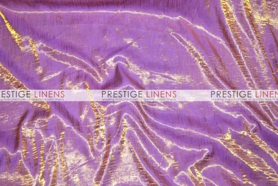 Iridescent Crush Table Linen - Gold/Violet