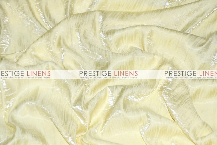 Iridescent Crush Table Linen Ivory Prestige Linens