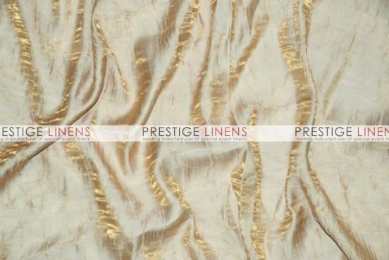 Iridescent Crush Table Linen - Lt Gold