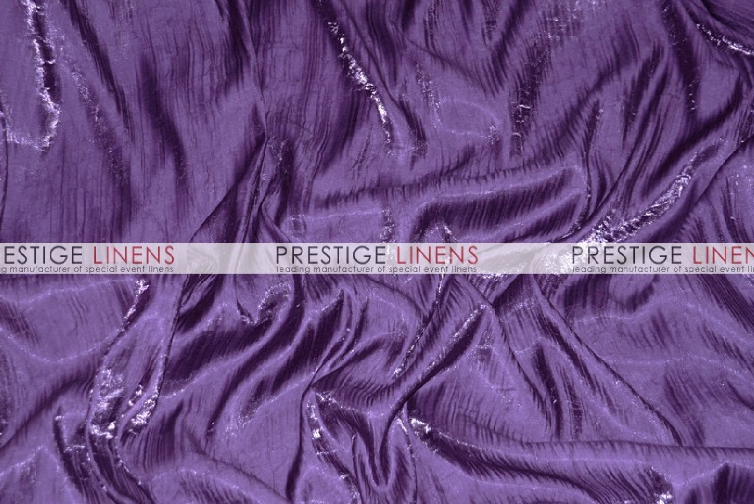 Iridescent Crush Table Linen Plum Prestige Linens
