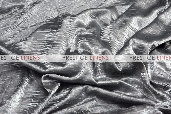 Iridescent Crush Table Linen - Silver