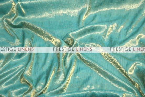 Iridescent Crush Table Linen - Turquoise/Gold