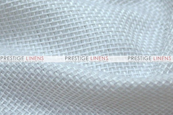 Jute Linen Table Linen - White