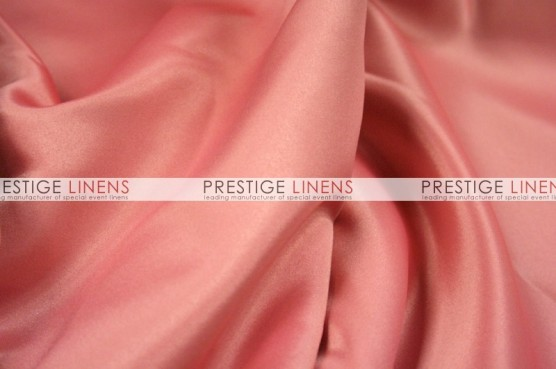 Lamour Matte Satin Table Linen - 432 Coral