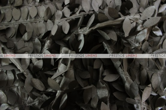 Leaf Petal Taffeta Table Linen - Black