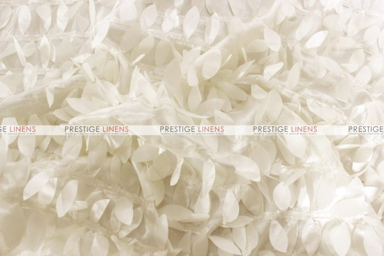 Leaf Petal Taffeta Table Linen - Ivory