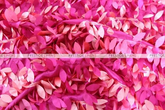 Leaf Petal Taffeta Table Linen - Multi Fuchsia