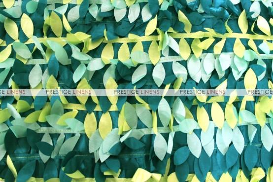 Leaf Petal Taffeta Table Linen - Multi Teal