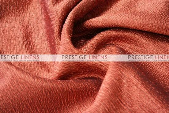 Luxury Textured Satin Table Linen - Rust