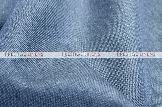 Metallic Linen Table Linen - Skyblue