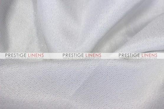 Metallic Linen Table Linen - White