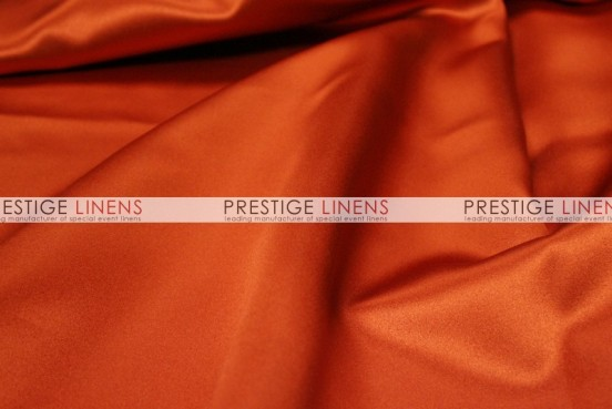 Mystique Satin (FR) Table Linen - Burnt Orange