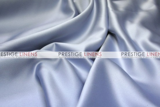 Mystique Satin (FR) Table Linen - Silver Cloud