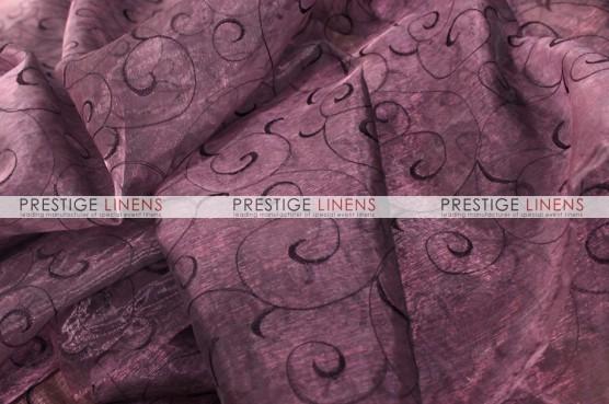 Organza Swirl Table Linen - 1034 Plum