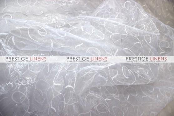Organza Swirl Table Linen - 126 White