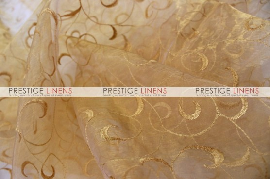 Organza Swirl Table Linen - 226 Gold