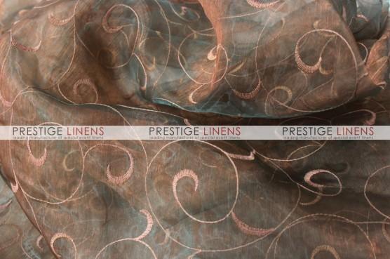 Organza Swirl Table Linen - 320 Jade/Blush