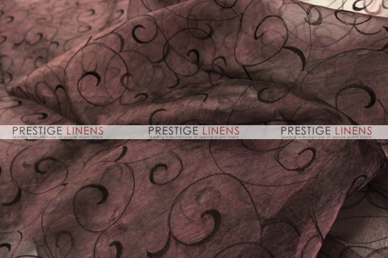 Organza Swirl Table Linen - 333 Brown