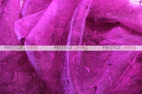 Organza Swirl Table Linen - 646 Magenta