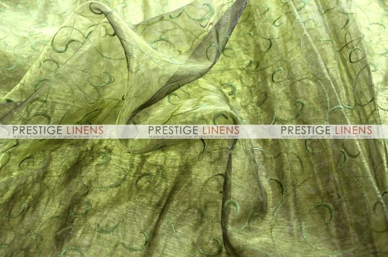Organza Swirl Table Linen - 830 Olive