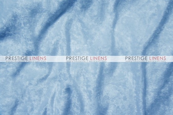 Panne Velvet Table Linen - Baby Blue