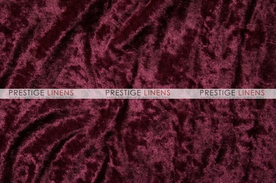 Panne Velvet Table Linen - Burgundy