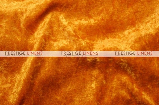 Panne Velvet Table Linen - Orange