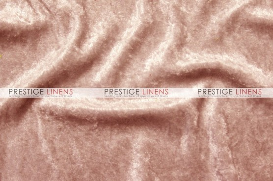 Panne Velvet Table Linen - Peach