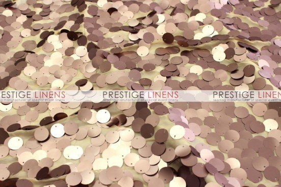 Payette Sequins (Dull) Table Linen - Mocha (Dull)