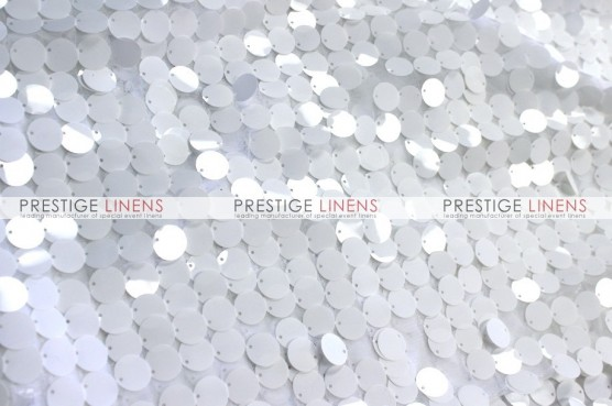 Payette Sequins (Shiny) Table Linen - White