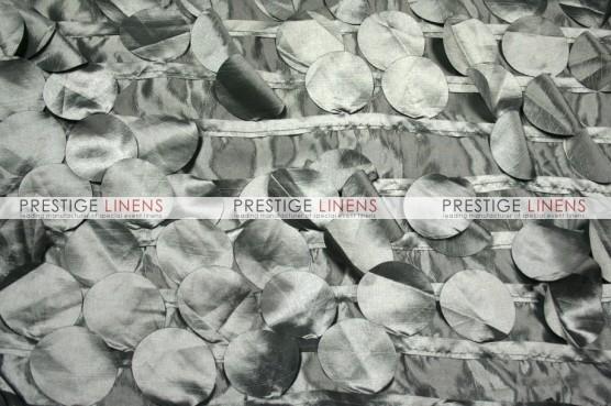 Petal Taffeta Table Linen - Platinum