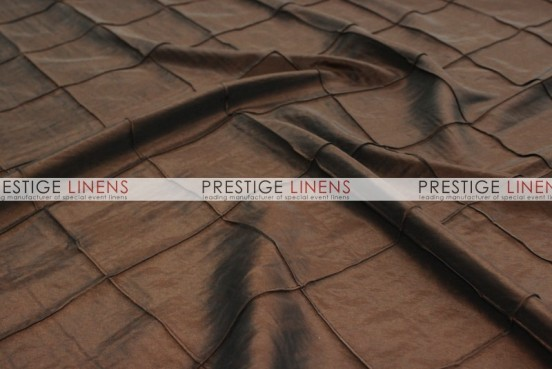 Pintuck Taffeta Table Linen - Brown