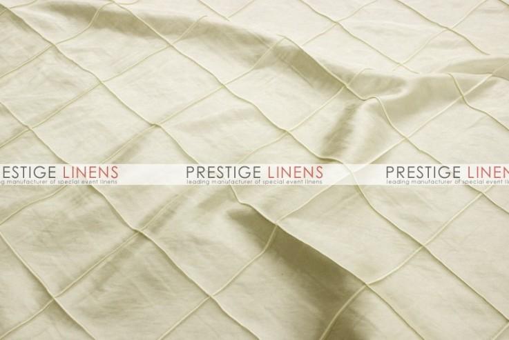 Pintuck Taffeta Table Linen Ivory Prestige Linens