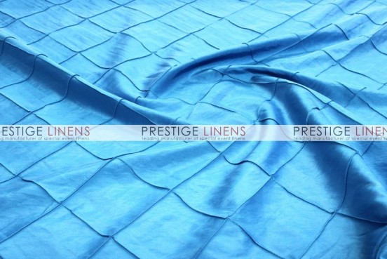 Pintuck Taffeta Table Linen - Turquoise