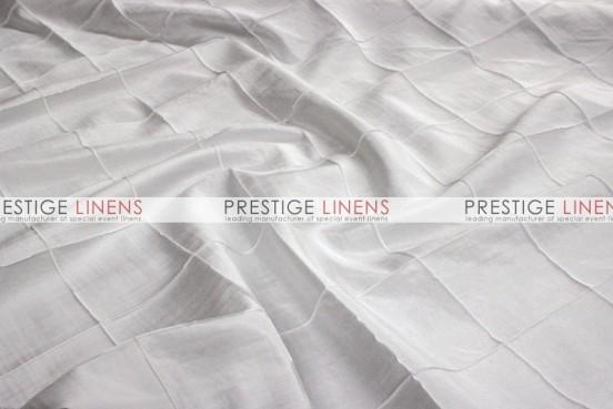 Pintuck Taffeta Table Linen - White