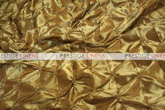 Pinwheel Taffeta Table Linen - Dk Gold