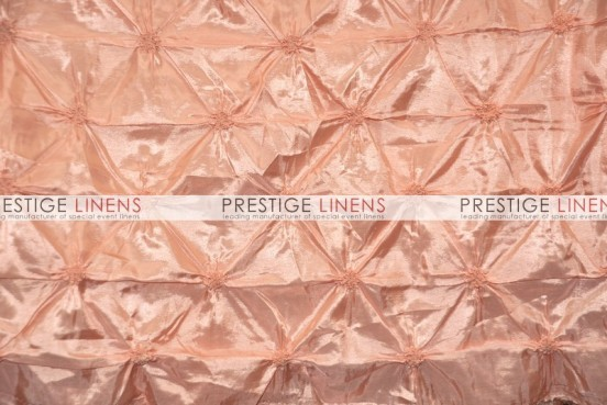 Pinwheel Taffeta Table Linen - Peach