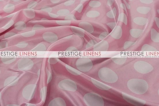 Polka Dot Print Charmeuse Table Linen - Pink/White