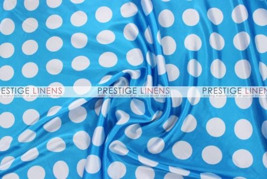 Polka Dot Print Charmeuse Table Linen - Turquoise/White