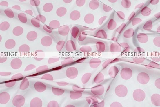 Polka Dot Print Charmeuse Table Linen - White/Pink